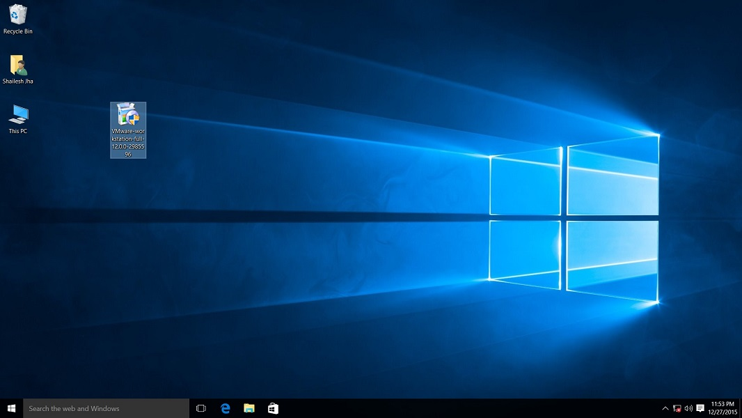 VMware workstation 14 pro for windows 10 installer file screenshot.
