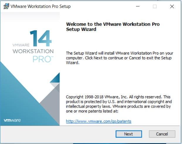 VMware Workstation 14 Installation - Setup Wizard