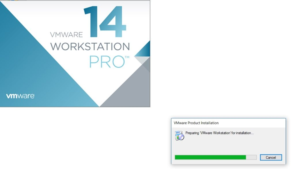 VMware Workstation 14 Installation  Splash Screen
