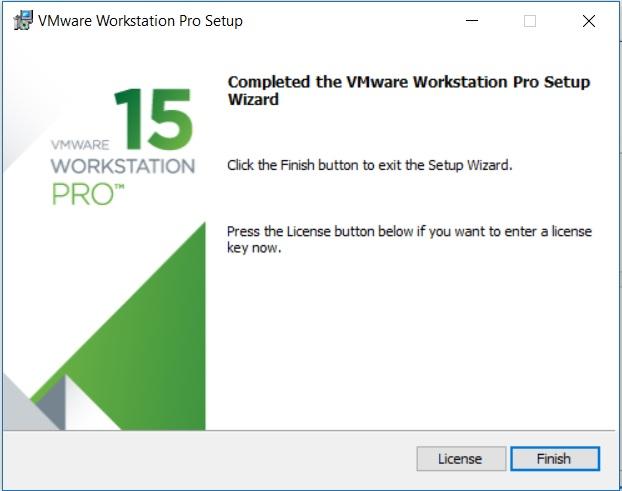 VMware Workstation 15 Installation – Installation Complete