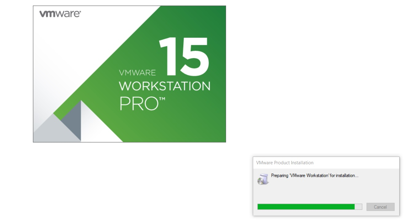 VMware Workstation 15 Installation Splash Screen