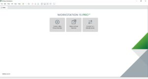 VMware Workstation 15 Pro home screen