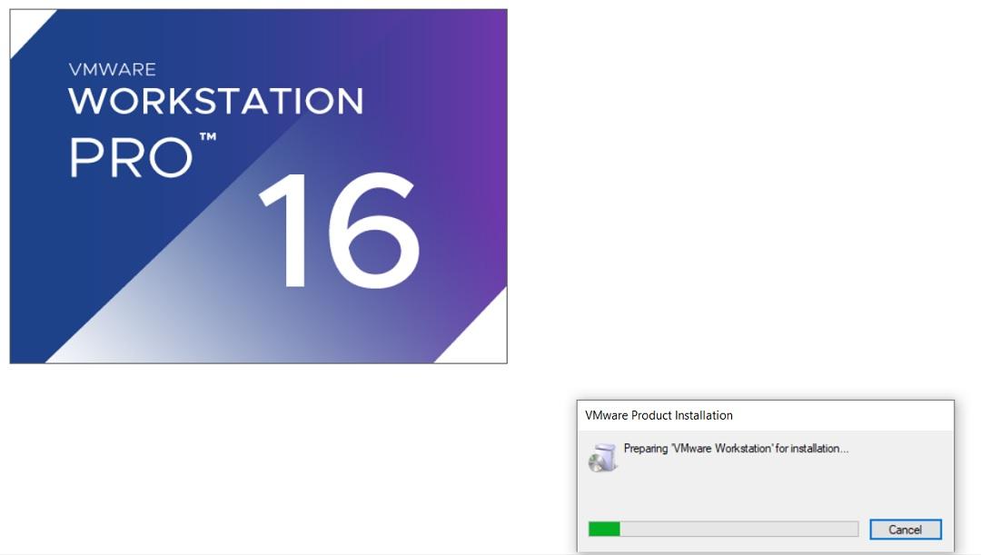 VMware Workstation 16  Installation Splash Screen