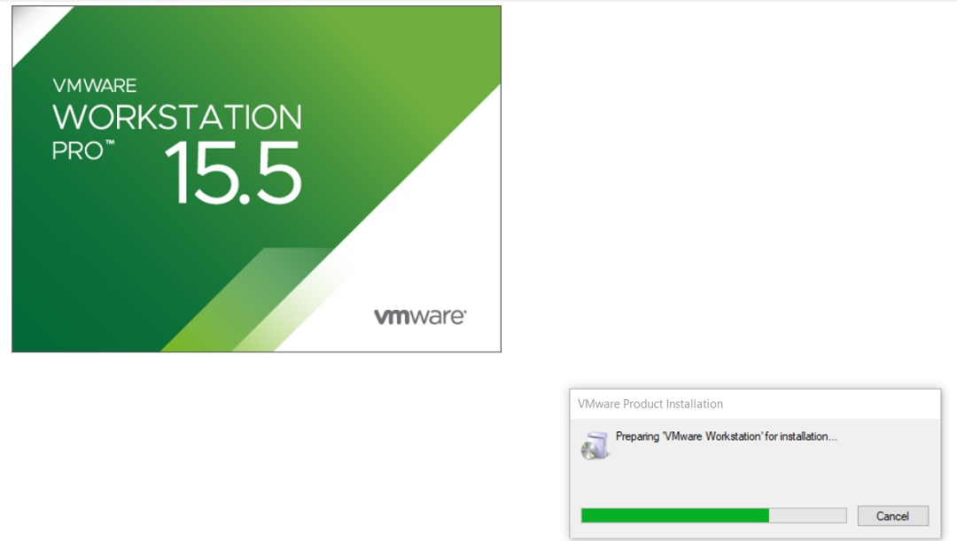 VMware Workstation 15.5 Installation Splash Screen