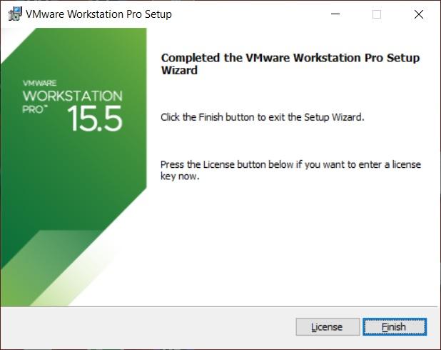 VMware Workstation 15.5 Installation – Installation Complete