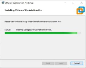 VMware Workstation 15.5 pro installation process