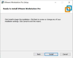 VMware Workstation 15.5 pro installation