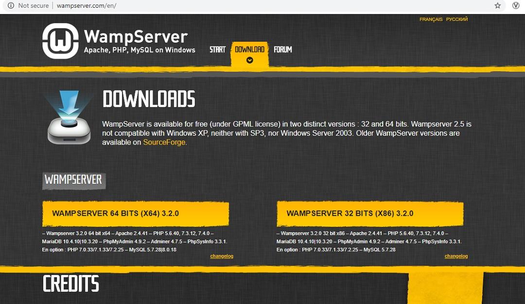 WAMP Server Download