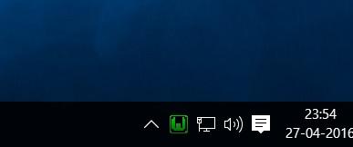 WampServer taskbar icon screenshot