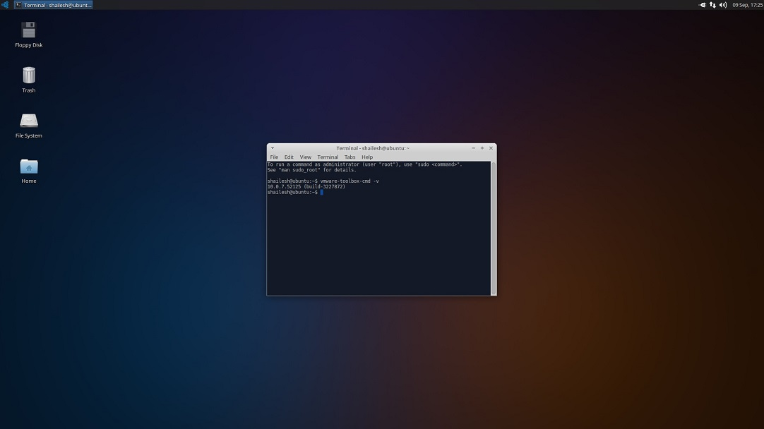 Ubuntu Studio VMware tools version number