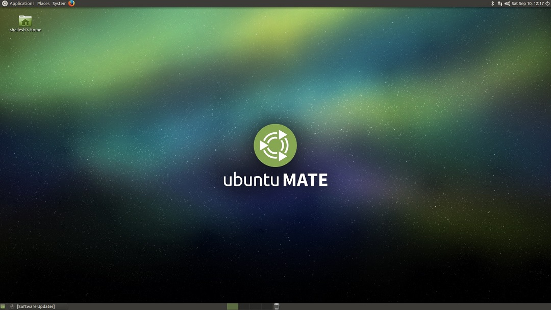 Ubuntu Mate desktop screenshot