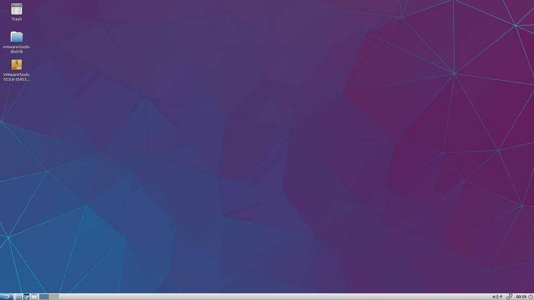 VMware Workstation- Lubuntu Destop - full screen screenshot