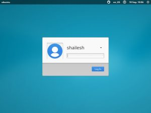 Xubuntu Login Screen