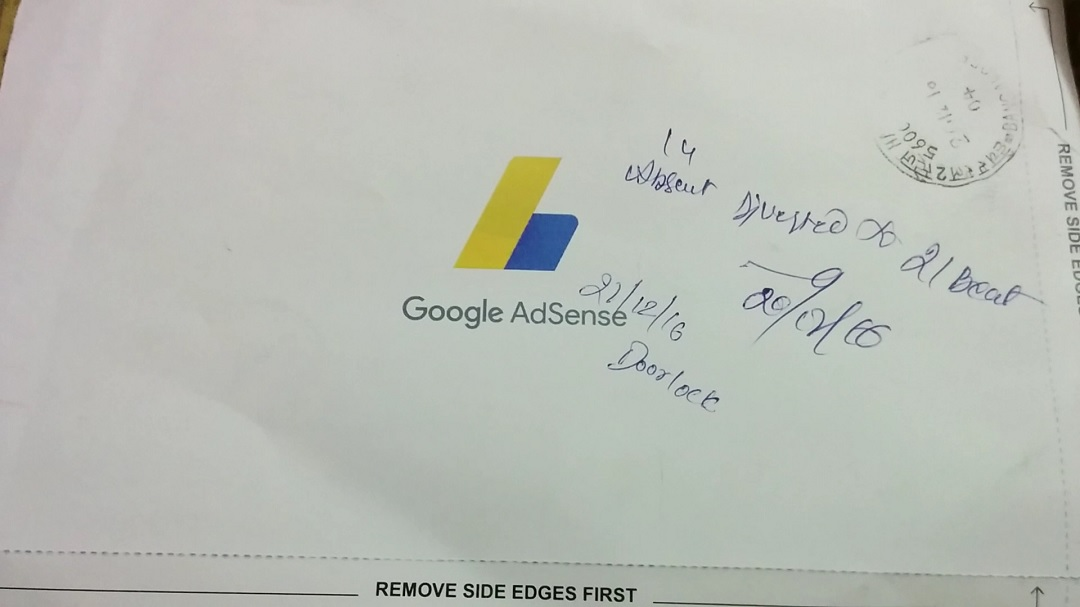 Google Adsense PIN Mailer Front Screenshot