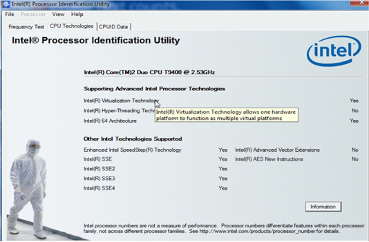Intel processor identification utilityIntel processor identification utility