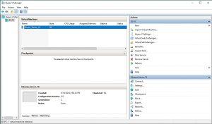 Windows 10 Hyper V Manager