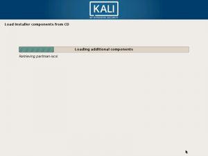 Install Kali Linux 2018 in VMware Workstation 14- Installation progress Screenshot