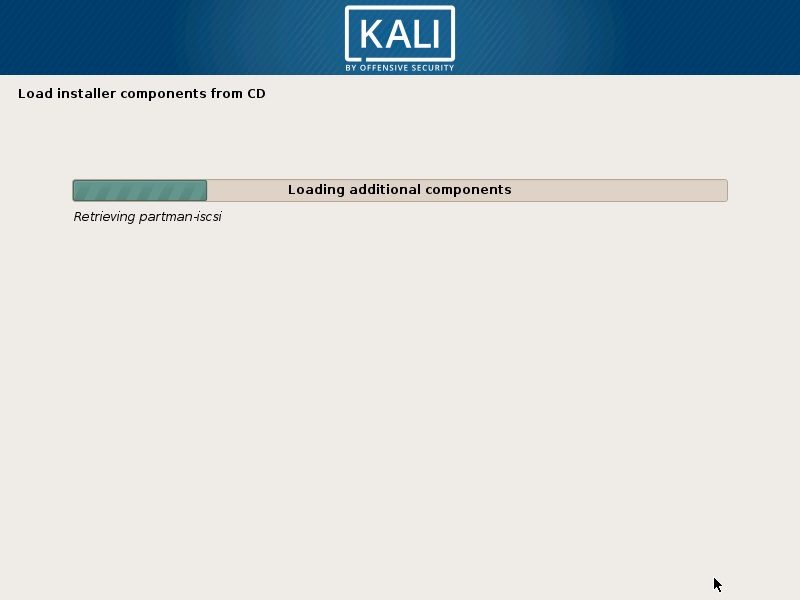 Install Kali Linux 2019 - Installation progress Screenshot
