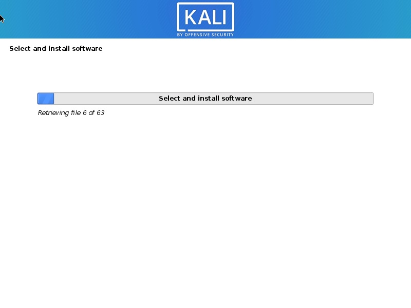 Kali Linux 2020 Installation progress