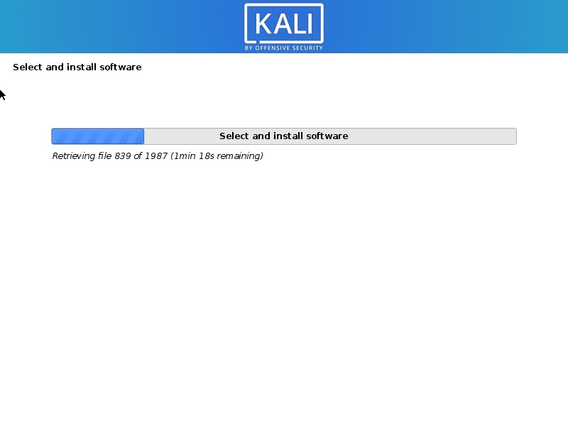 Kali Linux Installation progress