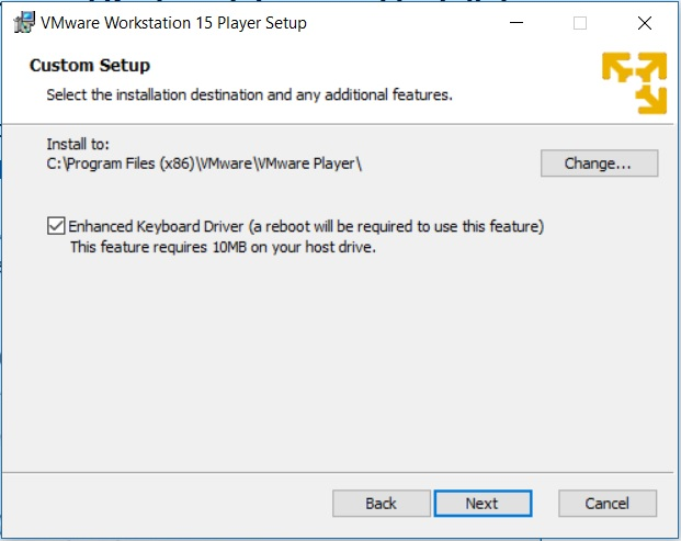 Step by Step – Install VMware Workstation Player 15 in