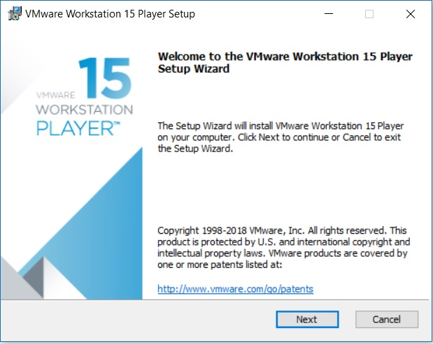VMware Player 15 Installation - Setup Wizard
