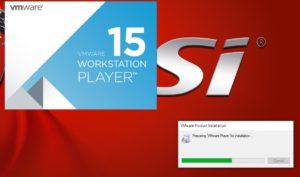 VMware Player 15 Installation - Initial Splash Screen
