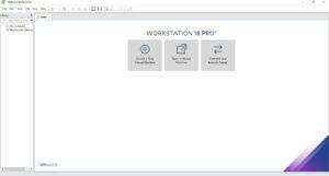 VMware Workstation 16 Pro Home Screen