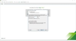 VMware Workstation - Create new virtual machine - specify disk capacity