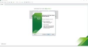 VMware workstation home – create a new virtual machine wizard – welcome screen screenshot