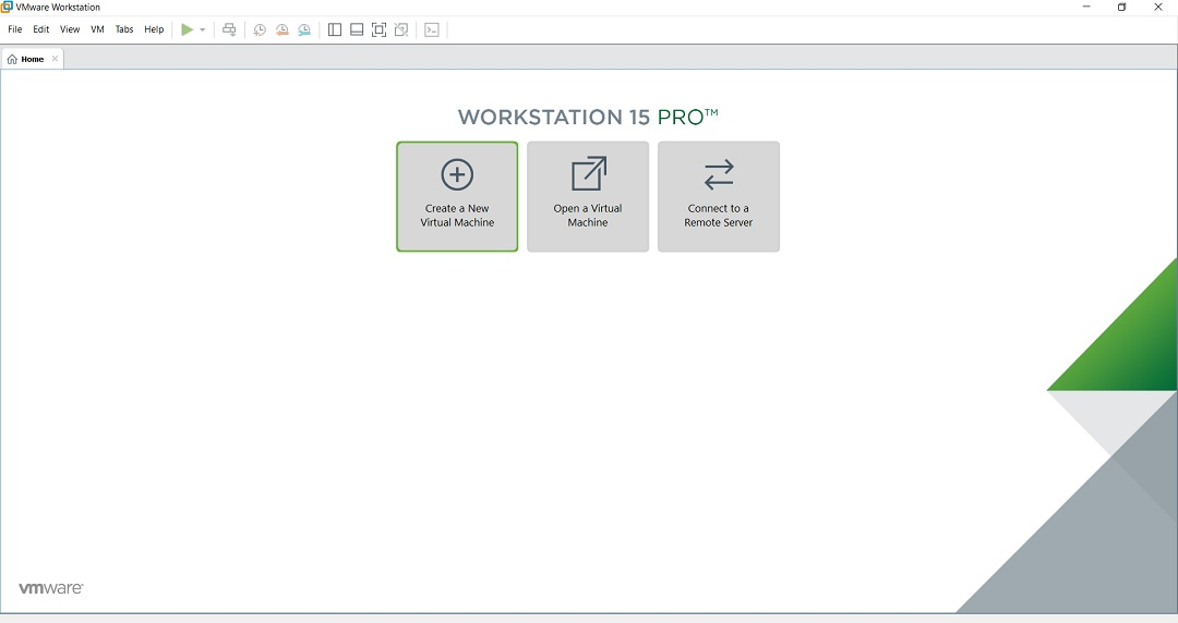 VMware workstation - create a new virtual machine screenshot