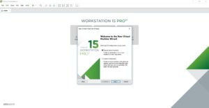 VMware workstation home - create a new virtual machine wizard - welcome screen screenshot