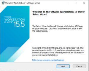 VMware Player 15.5 Installation - Setup Wizard