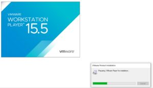 VMware Player 15.5 Installation - Initial Splash Screen