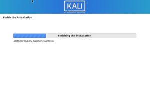 Kali Linux Installation progress