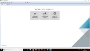 VMware Workstation home screen Screenshot