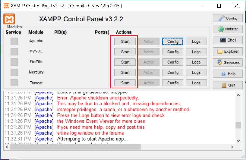 Step by Step – How to install XAMPP in Windows 10 and fix port