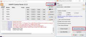 XAMPP Control Panel - Config