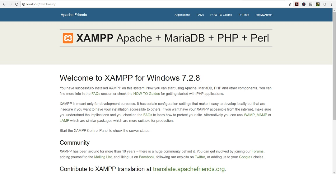 xampp 64 bit windows 10 download