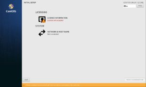 CentOS Installation - Initail setup