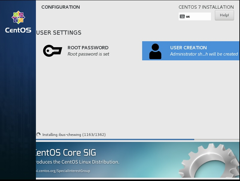 Centos setup - User creation