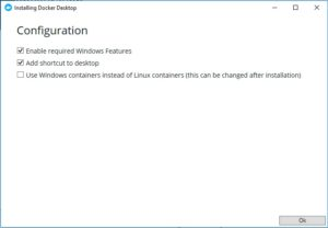 Docker Installation - Configuration settings