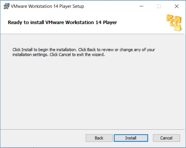 VMware Player Installation - Ready to Install