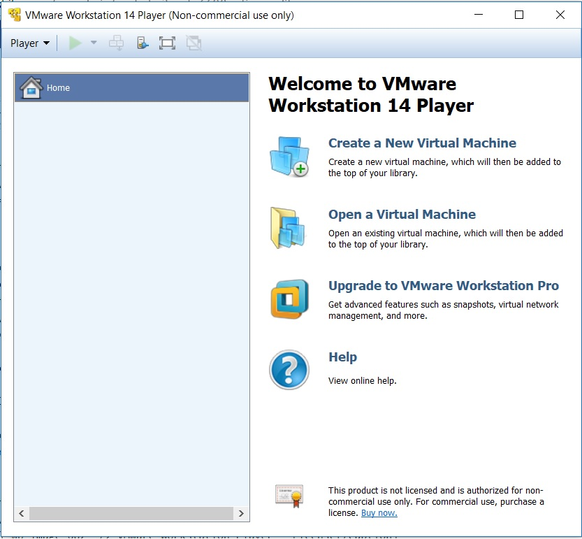 VMware  Workstation Player 14