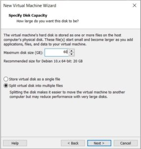 Kali Linux Installation - Specify Disk Space