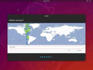 Hyper-V - Ubuntu Desktop Installation - Specify Location screenshot