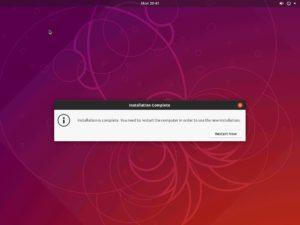 Hyper-V - Ubuntu Desktop installation - System restart