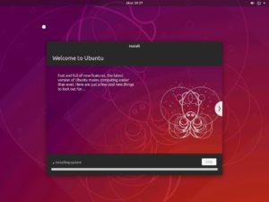 Hyper-V - Ubuntu Desktop installation progress