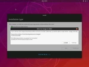 Hyper-V - Ubuntu Desktop Installation - Write Changes to Disk