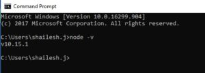 Nodejs - check version from command line